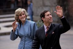April 22, 1985: Prince Charles & Princess Diana in Milan, Italy during the Royal Tour of Italy.