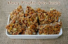 Chewy Pumpkin Spice Candy Recipe   deliciousobsessions.com