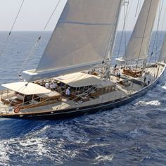 Interior & exterior photos of ATHOS, the Holland Jachtbouw super yacht, designed by Hoek Design with an interior by Hoek Design. Sailing Cruises, Yacht Cruises, Sailing Yachts, Sailing Ships, Classic Sailing, Classic Yachts, Sailboat Yacht, Yacht Boat, Boat Hire