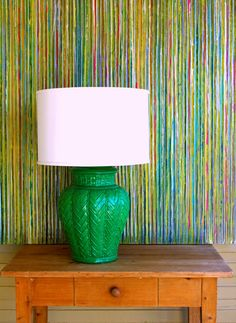I want to paint my pair of white lamps with green lacquer!! Amaaazing!!