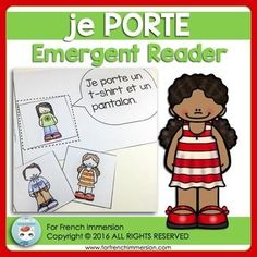 FRENCH Emergent Reader - je PORTE