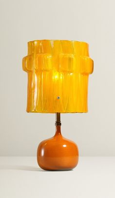Jacques and Dani Ruelland; Glazed Stoneware and Resin Table Lamp, c1960.