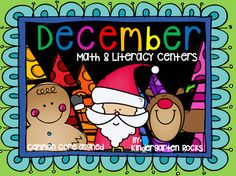 December themed math and literacy centers for kindergarten.