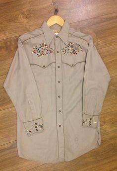 Vintage Western shirt MILLER Shirt Mens 1930s 40s