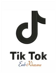 Tik Tok Logo Embroidery Design Embroidery Logo Embroidery Designs Logos