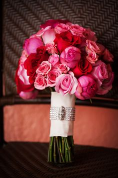 Pink Bouquet of Garden and Spray Roses by Andrea Layne Floral Design (www.andrealaynefloraldesign.com)