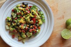 Simple Southwest Chopped Salad + Vegan Cilantro Cream Dressing - use raw ingredients