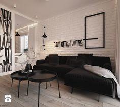 Apartament WBW - Salon, styl minimalistyczny - zdjęcie od ELEMENTY - Pracownia Architektury Wnętrz