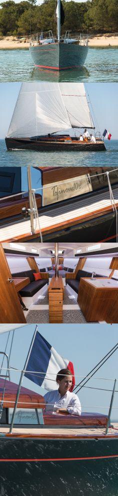 Tofinou 10.c (10 meters), shipyard Latitude 46, La Rochelle France. #daysailer #dayboat #yacht #luxury #luxus #segelboot #meer #boot #design #navigation #madeinfrance #kabine #teak #