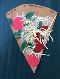 Bricolage pizza Diy Crafts For Kids Easy, Paper Plate Crafts For Kids, Animal Crafts For Kids, Summer Crafts For Kids, Craft Projects For Kids, Craft Activities For Kids, Easter Crafts, Paper Flowers For Kids, Classroom Crafts