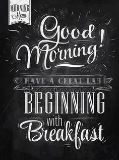 Poster belettering Goedemorgen — Stockillustratie #29786561