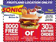 Sonic Drive-In Coupon