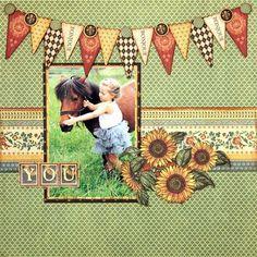 Fall Pony scrapbook layout