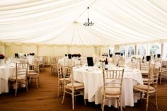 The marquee before the guests arrive