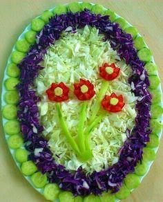 The most unusual salad design ideas — Newsquote Vegetable Decoration, Food Decoration, Salad Design, Food Design, Design Ideas, Cute Food, Good Food, Yummy Food, Salad Presentation