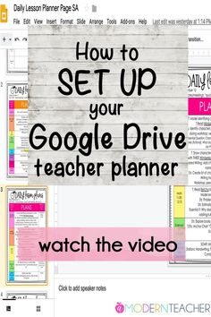 Set up for success! In this video, I'm sharing how easy it is to set up your goo. - Online school programs - New education Lesson Planner, Teacher Planner, Teacher Binder, Planner Pages, Planner Covers, Planner Diy, 2015 Planner, Blog Planner, Organization And Management