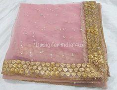 Wedding Bridal Designer Pink Stone Work Lace Dupatta Chunni Stole Scarves Embroiderd Net for Lehenga Suit Salwar Kameez for Women Girls Lehenga Suit, Stone Work, Pink Stone, Pakistani Designers, Bridal, Peach Colors, Salwar Kameez, Girl Photos, Blouse Designs