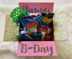 Creative Birthday Gifts, Birthday Presents For Mom, Birthday Gift Baskets, Birthday Box, Birthday Gift For Him, Friend Birthday Gifts, Best Friend Birthday Basket, Birthday Present Ideas For Best Friend, 21st Birthday Basket