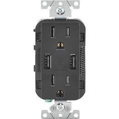 Leviton Decora USB Charging Outlet