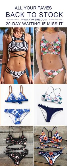 Treat Yourself to Something Special. All Your Faves are go Back To Stock! Need 20-day waiting if miss it.Check the restock items here with low price & high-quality. Faster shipping. These flattery swimwears are chic must-have items of the year! Your perfect option for a cool beach party! Shop now.