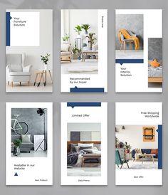 Instagram Story Design Templates PSD Graphic Design Lessons, Graphic Design Layouts, Web Design, Graphic Design Inspiration, Layout Design, Interior Design Instagram, Instagram Design, Instagram Story, Design Portfolio Layout