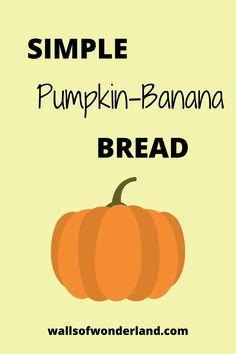Healthy Pumpkin Bread, Pumpkin Banana Bread, Easy Banana Bread, Banana Bread Recipes, Pumpkin Recipes, Fall Snacks, Fall Treats, Fall Dessert Recipes, Fall Recipes