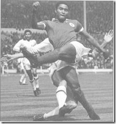 Eusébio da Silva Ferreira was born on January 25, 1942, in Lourenço  Marques, Portuguese East Africa (now Maputo). He moved to Lisbon in his  late teens and in 1961 joined Sport Lisboa e Benfica. In 1962, Eusébio won  the European Cup with Benfica, scoring two goals in the final against Real  Madrid. He was the 1965 European Footballer of the Year and in 1968 was  the first winner of the Golden Boot Award, as Europe's leading scorer.