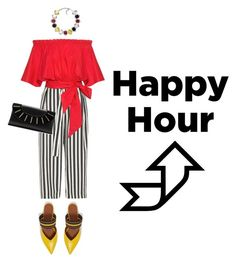 """Happy Hour!"" by janicevc ❤ liked on Polyvore featuring River Island, Saloni, Diane Von Furstenberg and Malone Souliers"
