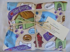 """""""Woof!"""" Ouchy Pouchy Microwavable Corn Bag Heating Pad"""
