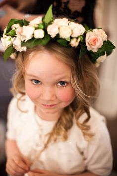 Floral head wreath for the flower girl!!! <3
