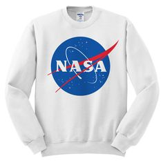 Nasa Meatball White Graphic Pullover Sweatshirt. This crewneck sweatshirt comes in sizes S-XL. Free US shipping. Get it now! :) Crew Neck Sweatshirt, Graphic Sweatshirt, Pullover, Crewneck Sweater, Nasa Clothes, White Tops, Casual Outfits, Meatball, Trending Outfits