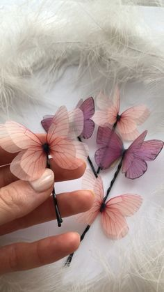 Cinco De Mayo Outfit Discover Set Violet and Light Pink Silk Butterfly Hairpins for Creative Hairstyle Butterfly Hair Clips Violet Butterfly Pink Butterfly Creative Hairstyles, Diy Hairstyles, Hairstyle Ideas, Bridal Hairstyle, Easy Hairstyle, Hair Ideas, Fringe Hairstyle, Pink Butterfly, Butterfly Design