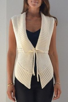 Ideas Crochet Shrug Outfit Boleros For 2019 Crochet Jacket, Knit Vest, Crochet Blouse, Knit Crochet, Knitting Patterns Free, Knit Patterns, Tricot D'art, Knit Fashion, Crochet Clothes