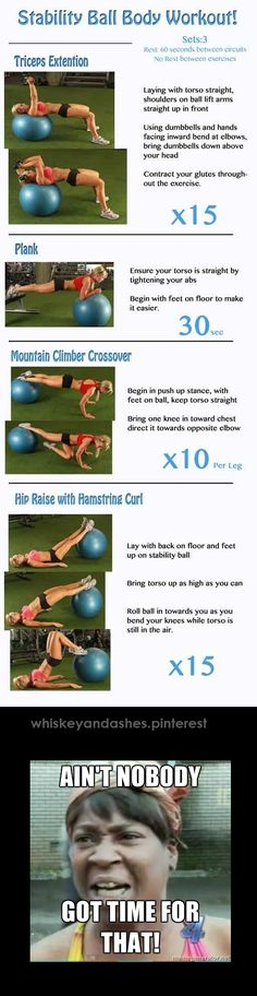 Exercise ball workout Summer Body Workouts, Abs Workout For Women, Gym Workouts, Ball Workouts, Tuesday Workout, Stability Ball Exercises, Tennis Workout, Belly Fat Workout, Sport