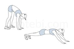 The inchworm is a great bodyweight exercise that warms up the entire body. It strengthens your arms, chest, upper back, lower back and abs and increases your balance and stability. Since your core needs to work hard to maintain stability and proper posture, this exercise can be part of a warm up routine or a core workout. http://www.spotebi.com/exercise-guide/inchworm/