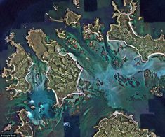 The beautiful Isles of Scilly, like many of Britain's beloved destinations, take on a vastly different complextion viewed from above Tresco Abbey Gardens, Google Earth Images, Scilly Isles, St Agnes, Gcse Art, Stonehenge, Travel News, Aerial View, Mother Earth