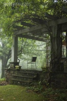 nature's porch I want to sit and drink a glass of wine here and while away the day
