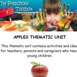 APPLES THEME for Preschool and Kindergarten - 41 pg instructional manual, 32 pdf games to print, 2 PowerPoints for Playful Learning and Explorations!