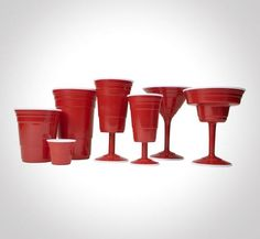 Red Cup Partyware is Perfect for Burgeoning Adults trendhunter.com