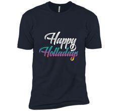 Happy Holladays Holla Holler Merry Xmas Spirit Gift T-Shirt