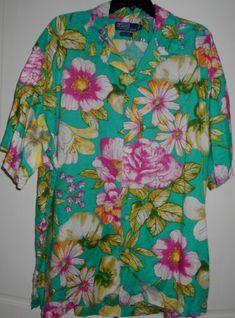 234938cd8 Vtg 90s RALPH LAUREN POLO Clayton Hawaiian Floral Linen Shirt~XL~58