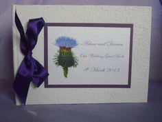 Scottish Thistle handmade guest book