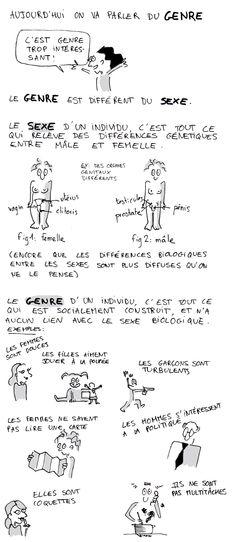 Théorie du Genre  @Sheryl Moll peut-être ce bande-dessiné serait utile pour quelque discussion dans ta classe de Français BI.