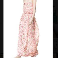 Zara Floral Maxi Dress Small