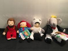 Set - Max / Madeline / Babar / Curious George in Dolls, Bears, Dolls, Other Dolls Curious George, Bears, Snoopy, Teddy Bear, Dolls, Animals, Fictional Characters, Baby Dolls, Animales