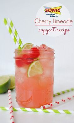 SONIC Cherry Limeade Recipe ... tastes exactly like Sonic!! Excellent drink recipe.