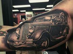 Vintage car mobster gangster mens bicep tattoos famous mob cars, 50 gangster tattoos for men mobster design ideas chicano. Mob Tattoo, Tattoo Mafia, Tattoos 3d, Vegas Tattoo, Black Ink Tattoos, Sleeve Tattoos, Tattoos For Guys, Tatoos, Lion Tattoo Design