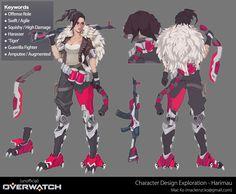 ArtStation - Overwatch Original Character Concept Excercise, Mac Ko