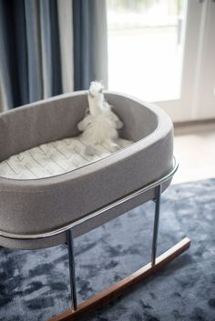 Modern rocking crib: http://www.stylemepretty.com/living/2016/06/08/theres-a-new-backstreet-boy-in-town-and-his-nursery-is-off-the-charts/ | Photography:Julie Cate Photography