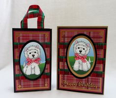 Tinyrose's Craft Room: Crafts Galore Encore - August Challenge - Anything Goes matching card and gift bag Matching Cards, Matching Gifts, August Challenge, Room Crafts, First Blog Post, Westies, Digital Stamps, I Fall In Love, Christmas Cards